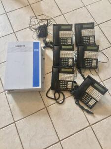Système téléphonique Samsung iDCS100 avec 6 téléphones+Sans Fil
