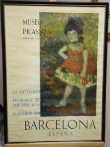 50 year old Picasso Poster – Framed