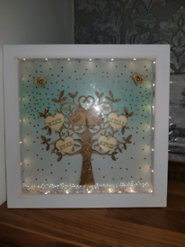 Personalised picture frames light up/ or just plain