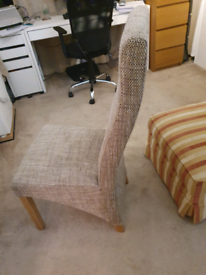 2 x fabric chairs, £10 each, light easy to move