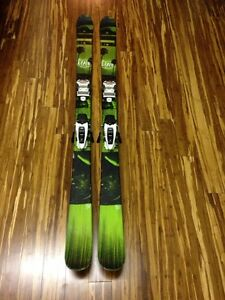 Line skis with Marker Squire bindings