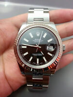ROLEX Datejust 2 II Black 18 k White Gold Model 116334 Papers