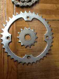Chain and sprockets for yamaha yfz450 used a couple rides