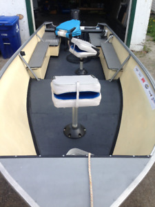 """15' 6"""" Boat and trailer with 25hp Mercury"""