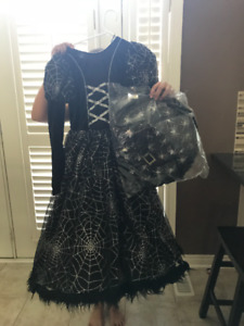 Halloween costume -Witch Dress and hat-NEVER WORN size 12 kids