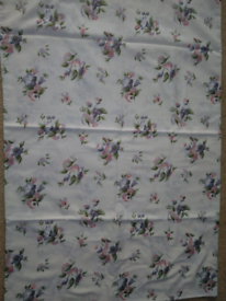 Duvet cover + pillow cases for single bed, cotton flowery design