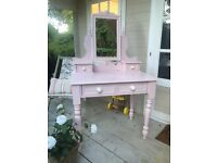 Hand painted pine dressing table