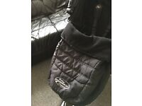 City mini stroller with cozytoes and raincover