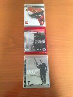 Lot de trois jeux pour PS3