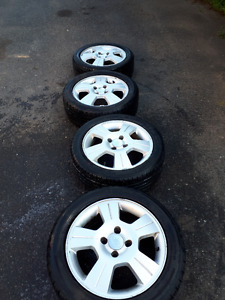 4 rims and tires for ford focus