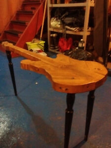 Wood stratocaster guitar table! Cambridge Kitchener Area image 2