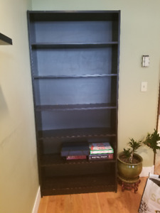 Tall Black Book Shelf for sale!