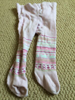 H&M pink stripey leggings, 2-6 months