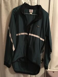 Running Room jackets (two); sit-up bench (board for ab crunches)