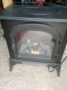 Electric Fireplace (blows heat)