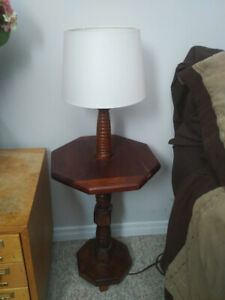 Solid wood lamp/stand
