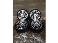 "BMW 3 OR 4 SERIES Fx MODELS ""19"" M STAR SPOKE 403 ALLOY WHHEL SET"