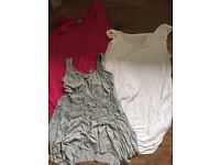 Bundle of three maternity tops - size 10
