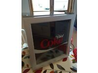 Diet Coke, Coca Cola, chilled beer mini party fridge and drinks cooler, mini bar/Husky.