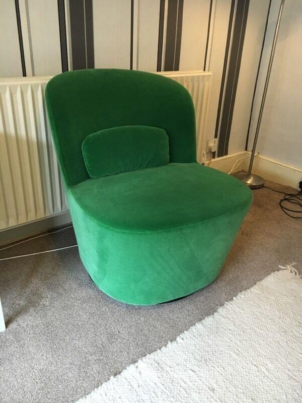 Ikea Stockholm Swivel Easy Chair In Sandbacka Green In