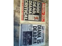 PRINCESS DIANA TABLOID NEWSPAPERS
