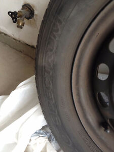 Four set of 14 inches steel rim with tires.