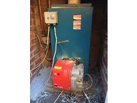 Oil boiler and burner