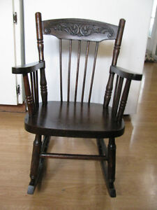Antique Pressedback Child's Rocking Chair