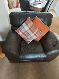 3 piece brown leather furniture set