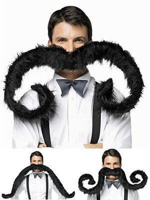 Extragroß Biegbare Schwarz Falsch Falscher Schnurrbart Kostüm Kostüm - Falschen Schnurrbart Kostüm