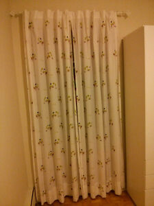 Baby curtain set with rod and mounts