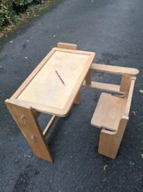 Solid Wood Children's Folding Desk & Chair