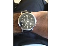 Armani Watch with leather Strap