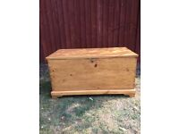 Antique waxed pine ottoman in great condition