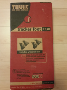 WOW! THULE 418 TRACKER FOOT PACK & LOAD BARS!