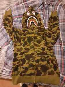 Authentic Bape Camo Shark Hoodie. Size Large.
