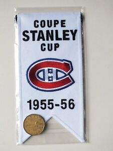 CENTENNIAL STANLEY CUP 1955-56 BANNER MONTREAL CANADIENS HABS Gatineau Ottawa / Gatineau Area image 2