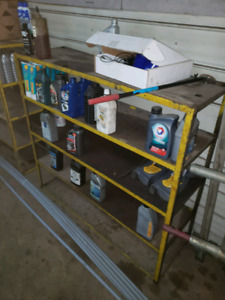 Steel shelving racks great for garage or business 4 available