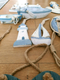 Beutiful wooden sailor style mix decorations