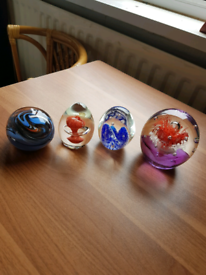 4 Glass paper weights only £10 for sale  Caerphilly