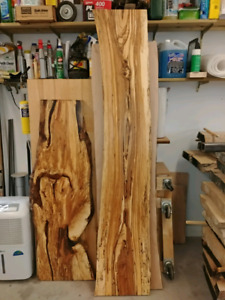 Live edge slabs, kiln dried wood