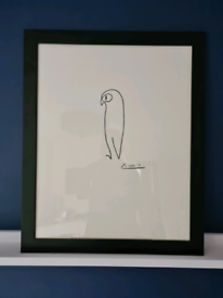 Large Framed Picasso Line Drawing