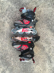 kids roller blades (sizes one-four)
