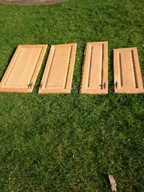 Cupboard doors, solid maple, includes hinges