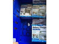 battery chargers, 4 amp, car, van, motorbike, etc