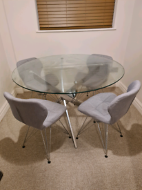 Clear Round Glass Table