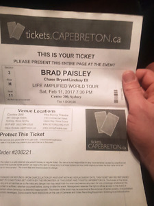 Brad paisley ticket
