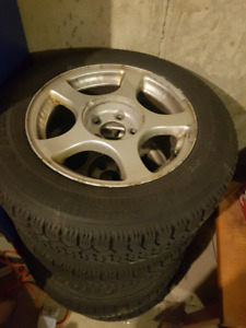 Winter tires for sale 90% tread