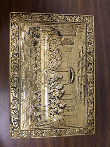 The Last Supper Brass Wall Hanging