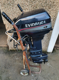 Evinrude 15hp Longshaft Electric Start + Manual Start Outboard Boat